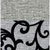 Elegance Grey (вензель)/Sun 08 (серая рогожка)