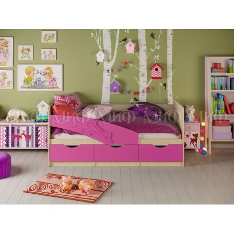 """Детская кровать """"Дельфин"""" 1,6м с матрасом"""