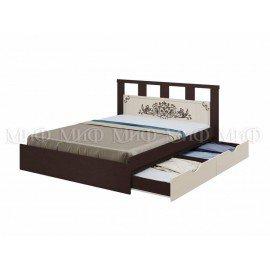 """Кровать """"Жасмин"""" 1,6 м ( с ящиками) с матрасом"""