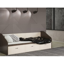 """Кровать """"Ронда"""" 0,8 м с 3 ящиками + матрас"""