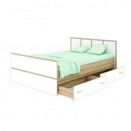 """Кровать """"Сакура"""" 1,6 м (2 ящика) + матрас"""