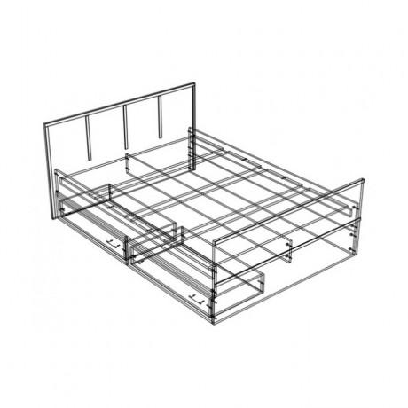 """Кровать """"Сакура"""" 0,9 м (2 ящика) + матрас"""