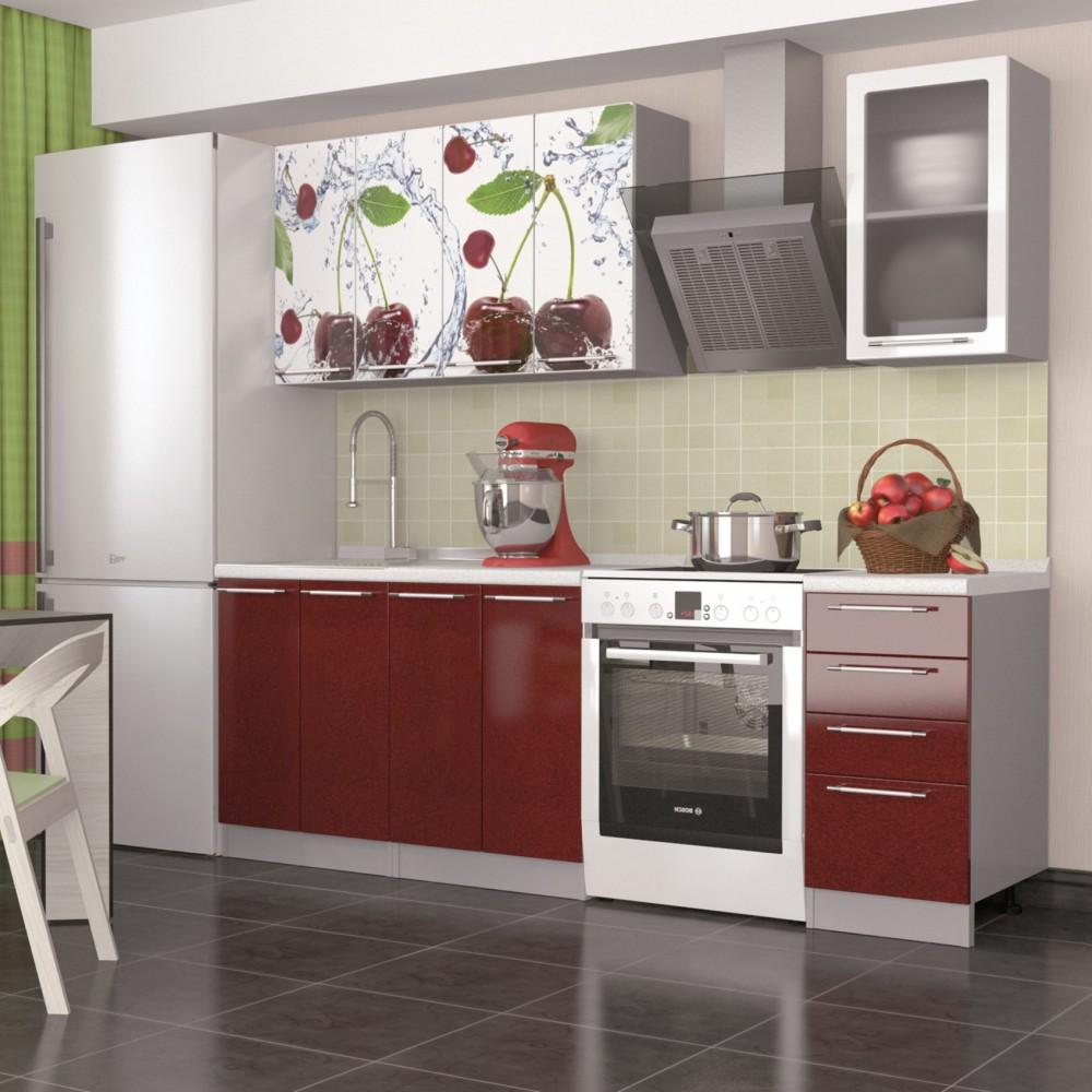 """Кухня """"Олива Вишня"""" 1,8м"""