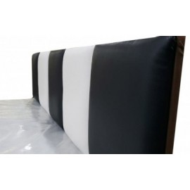 """Кровать """"Домино"""" с мягким изголовьем 1,2м + матрас"""