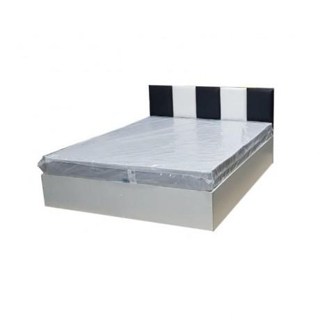 """Кровать """"Домино"""" с мягким изголовьем 1,4м + матрас"""