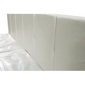 """Кровать """"Ронда"""" белая с мягким изголовьем 1,2м + матрас"""