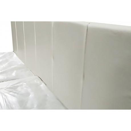 """Кровать """"Ронда"""" белая с мягким изголовьем 1,6м + матрас"""