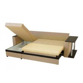 """Диван-кровать """"Атлант"""" угловой со столиком (экокожа)"""