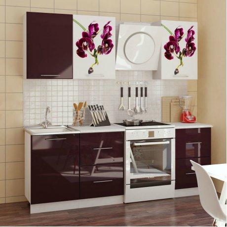 """Кухня с фотопечатью """"Орхидея-1"""" 1,7 м"""