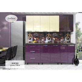 """Кухня """"Бордо-2.0"""" с круглой мойкой"""